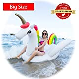 Unicorn Swimming Pool Float Inflatable Raft for Kids and Adults Inflates and Deflates Fast Premium Quality Toy Oceans And Lakes