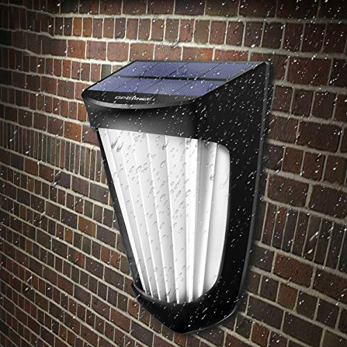 OPERNEE Solar Lights Outdoor, (2 Pack) Wireless 10 Led Solar Fence Lights Waterproof Auto ON/Off Wall Decorative Lights for Porch, Patio, Deck, Yard, Garden by OPERNEE (Image #1)