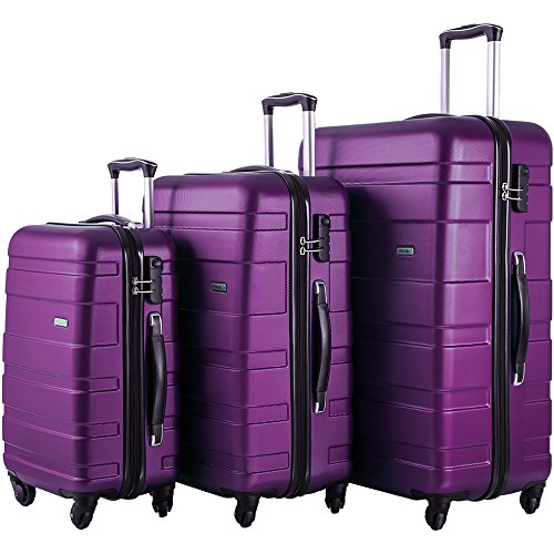 Merax MT Imagine Luggage Set 3 Piece Spinner Suitcase 20 24 28inch (Purple) by Merax
