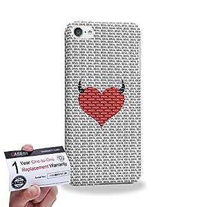 Case88 [Apple iPod Touch 6] 3D impresa Carcasa/Funda dura para & Tarjeta de garantía - Art Fashion Devil Heart Pattern