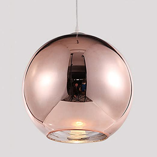 Motent Industrial Modern Mini Globe Rose Gold Glass Single Head ...