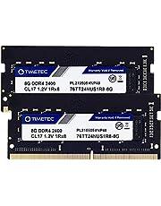 Timetec Hynix IC 16GB KIT(2x8GB) DDR4 2400MHz PC4-19200 Unbuffered Non-ECC 1.2V CL17 1Rx8 Single Rank 260 Pin SODIMM Laptop Notebook Computer Memory RAM Module Upgrade (16GB KIT(2x8GB))