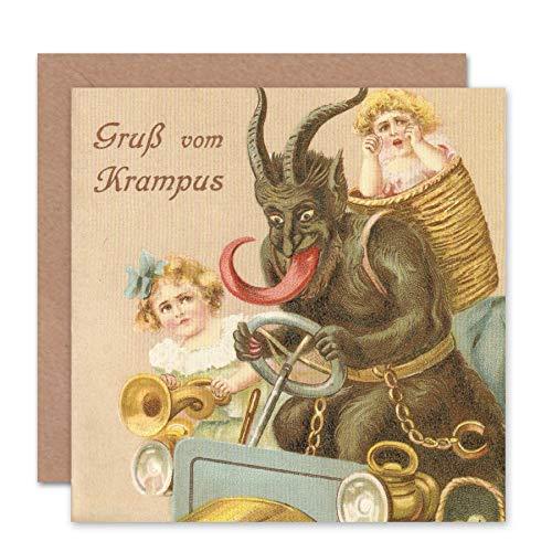 Wee Blue Coo Card Greeting Krampus Alpine Anti Santa Funny CS1586