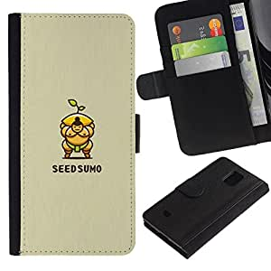 All Phone Most Case / Oferta Especial Cáscara Funda de cuero Monedero Cubierta de proteccion Caso / Wallet Case for Samsung Galaxy S5 Mini, SM-G800 // sumo de semillas