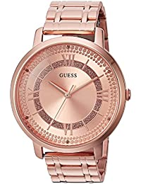 Womens Stainless Steel Glitz Casual Watch, Color: Rose Gold (Model: U0933L3)