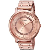 GUESS Women's Stainless Steel Glitz Casual Watch, Color: Rose Gold (Model: U0933L3)