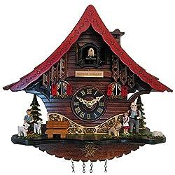 Engstler Cuckoo Clock - Quartz Heidi's Chalet with Music