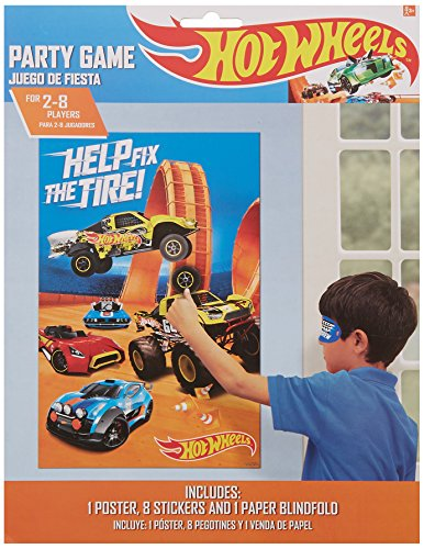 Hot Wheels Birthday Party (Amscan Boys Fast Riding Hot Wheels Wild Racer Birthday Party Game (3 Piece), Multicolor, 37 1/2 x 24 1/2