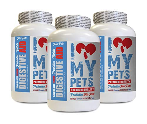 Digestive aid for Pets - PET Digestive AID - Dogs and Cats - Best PROBIOTICS - Beef Liver Tablets - 180 Treats (3 ()