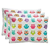 Bentology Ice Packs for Lunch Boxes (3 Pack) New Durable Material, Non-Toxic, Reusable, Long Lasting, Eco Friendly (6'x4.5') - Owl