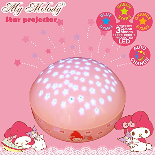 "My Melody ""Touch Active, Easy Clean"" Twilight Constellation Galaxy Round Projector Night Light by Lumitusi (My Melody)"