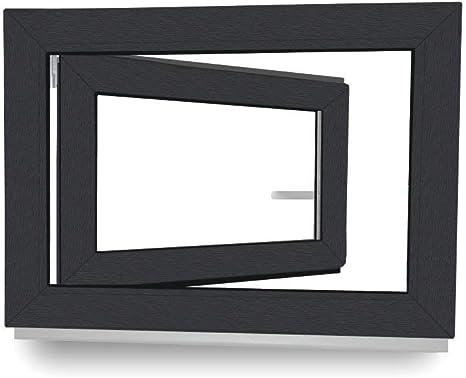 2 fach Verglasung Fenster DIN Rechts Dreh- /& Kippfunktion innen wei/ß//au/ßen wei/ß 600 x 900 mm BxH: 60 x 90 cm Kellerfenster 60 mm Profil