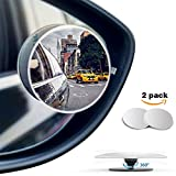 Automotive : MICTUNING Blind Spot Mirror Frameless Convex HD Glass Wide Angle 360° Rotation Rear View Mirror, Pack of 2