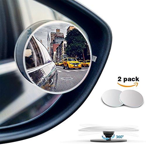 R/étroviseur Grand Angle,2 Pack HD Voiture R/étroviseurs 360 Ronde Auto R/étroviseurs,Grand Angle R/églable Blind Spot Mirror pour Toutes les Voitures Blanc