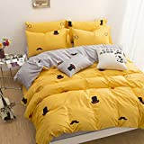 WaaiSo Simple Pure Cotton Soft Comfortable Bedding Collections Bedding Sets Four set Cartoon,1.2m?suitable 4 inches bed? Four set for chlidren, student, bedroom,&f3647