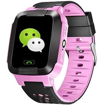 DYMAS Inteligente de los niños Relojes electrónicos Relojes GPS posicionamiento Voz Escucha teléfono táctil Pantalla Infantiles