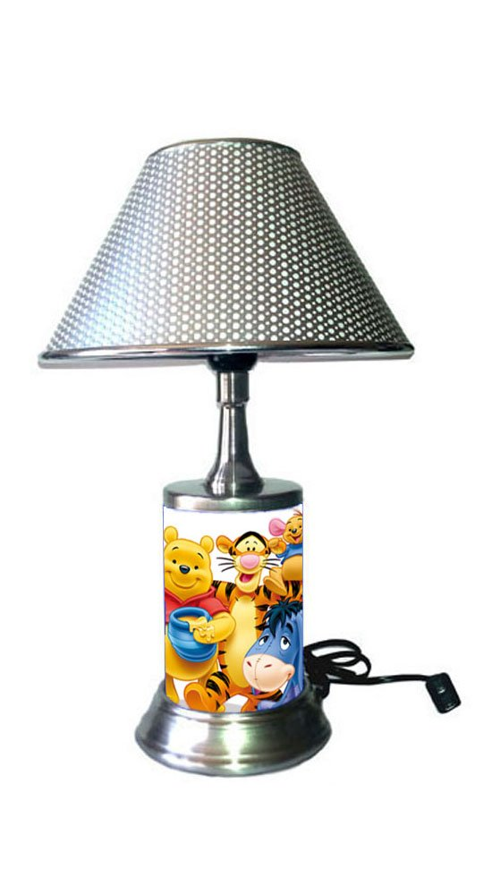 Disney Winnie The Pooh Lamp with Metallic Color Shade