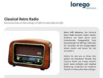 Classical Retro Radio Classic Retro Design with: Amazon.co.uk ...