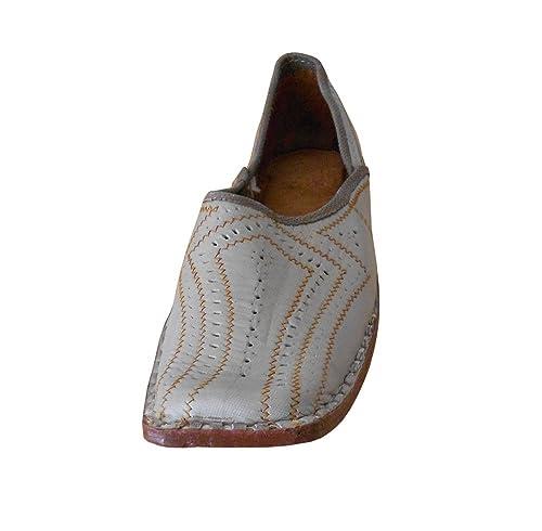 Kalra creaciones Hombres de piel de tradicional indio funda zapatos: Amazon.es: Zapatos y complementos