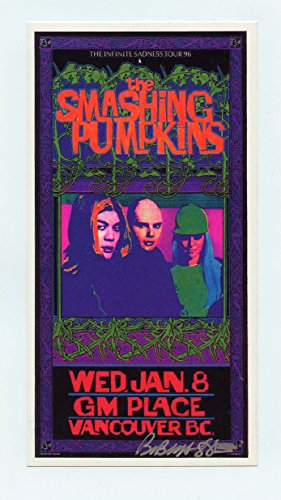 Smashing Pumpkins Handbill 1996 Jan 8 GM Place Vancouver