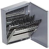 Chicago Latrobe 159 Series High-Speed Steel Short Length Drill Bit Set In Metal Case, Black Oxide Finish, 135 Degree Split Point, Wire Size, 60-piece, 60 - #1