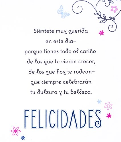 Hallmark Vida Spanish Birthday Greeting Card For Quinceaera For 15