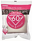 Hario V60 Misarashi Coffee Paper Filter (Size 01, 100 Count, White)