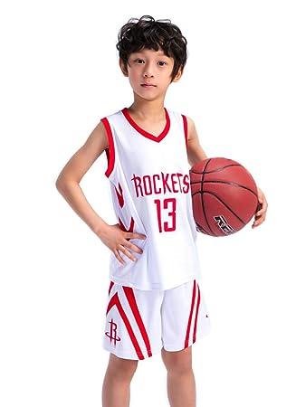 OLIS Niño Ropa de Baloncesto NBA Houston Rockets # 13 Harden Retro ...