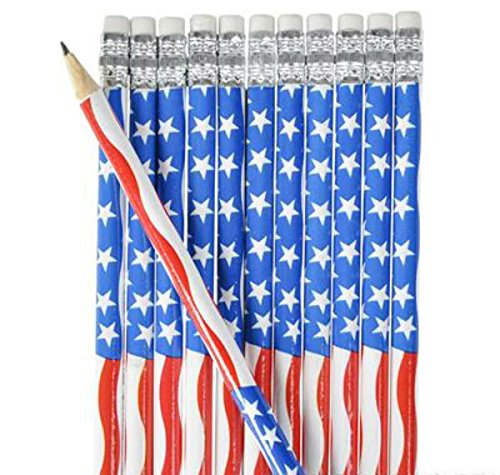 American Flag Pencil- 12pk - Play Kreative TM (American Flag)