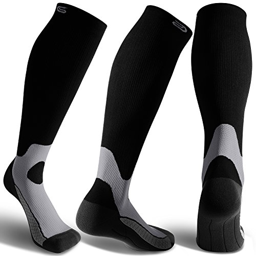 CS CELERSPORT 3 Pairs Compression Socks 20-30mmHg For Men and Women-Best Stockings For Running, Touring, Shin Splints, Nurse, Athletic And Pregnancy – DiZiSports Store