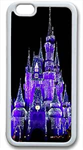 Beautiful Purple Castle Customized Rubber White iphone 6 Case By Custom Service Your Perfect Choice
