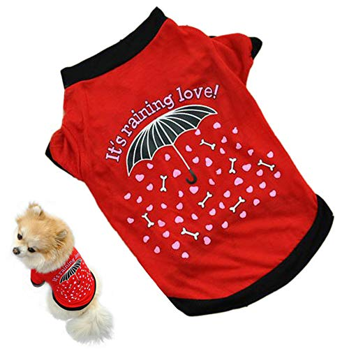 GOTOCO. Spring Cool Pet Dog/Cat T-Shirt Clothes – Summer Soft Pet T-Shirt Costumes for Puppies & Kittens, Breathable Pet…