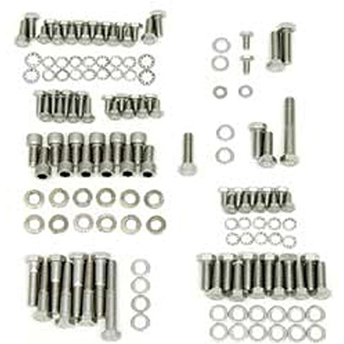 Eckler's Premier Quality Products 40166118 Full Size Chevy Engine Hex Head Bolt Set Stainless Steel Small Block by Premier Quality Products