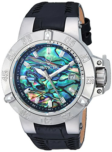 Invicta Womens Gabrielle Union Quartz Stainless Steel And Leather Casual Watch  Color Black  Model  23179