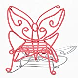 jeremie Butterfly Chair, Color Options for Miniature Garden, Fairy Garden, Pink