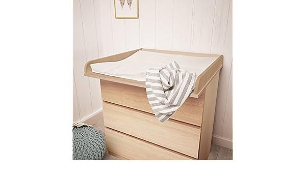 Polini Kids - Cambiador infantil en madera de haya para cómoda Malm de Ikea en diferentes colores: Amazon.es: Bebé