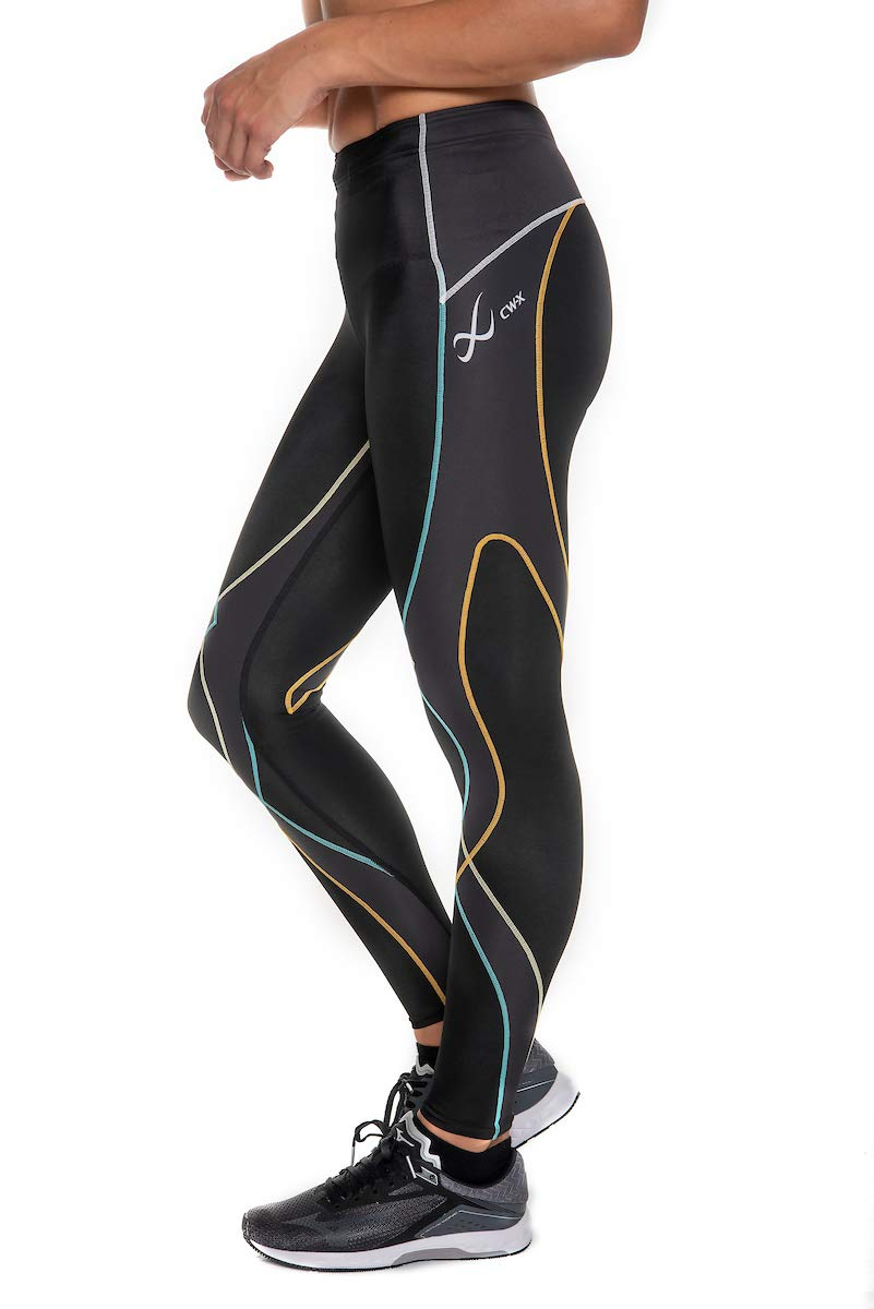 CW-X Women's Stabilyx Joint Support Compression Tight, Black/Bright Rainbow, Small by CW-X (Image #3)
