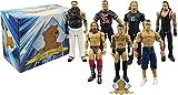 WWE Wrestling Figure Lot - 4 Random WWE Wrestling Figures - Past and Present Superstars! Includes Golden Groundhog Storage Box!