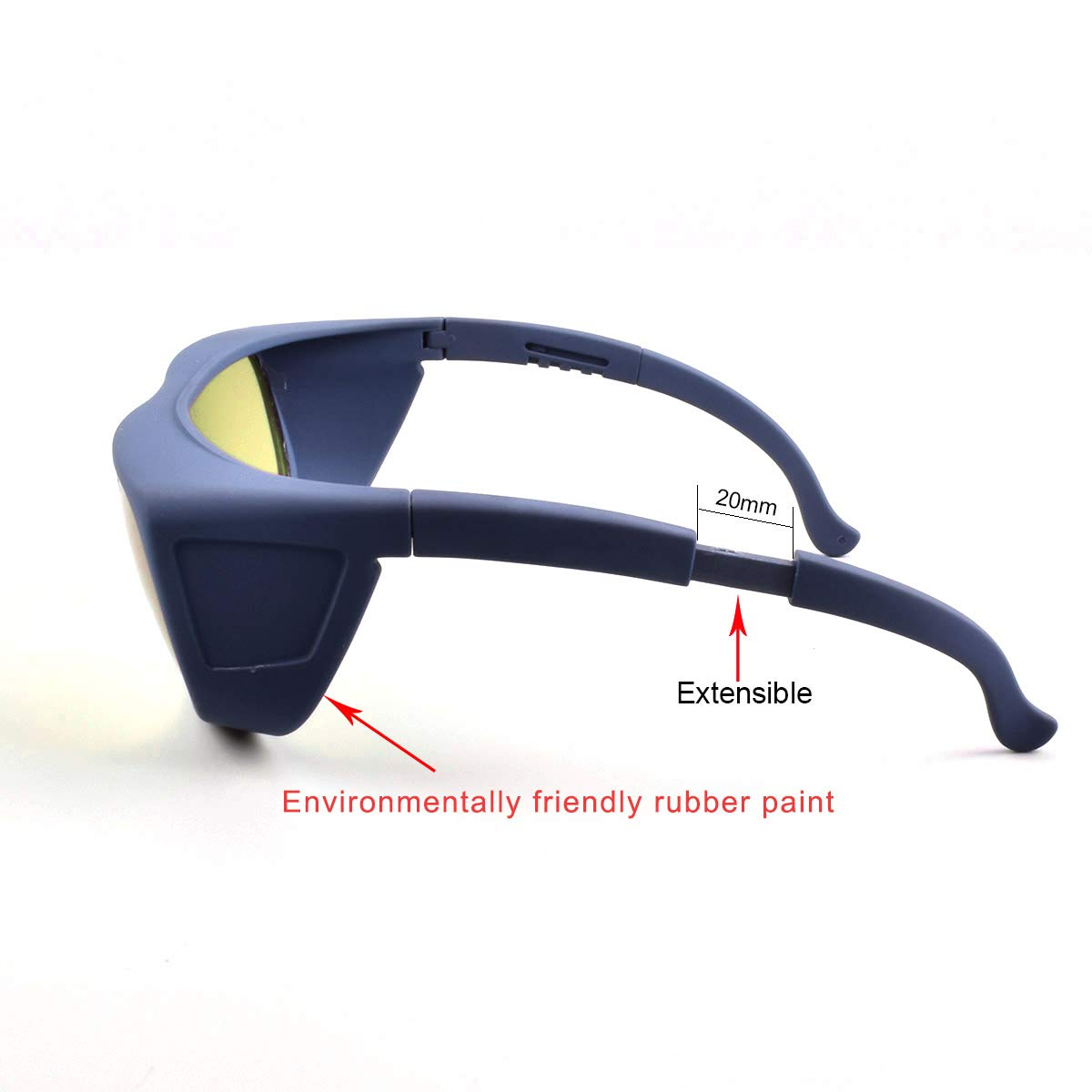 190nm-2000nm Wavelength IPL Laser Safety Glasses for Medical Eye Protection/Laser Cosmetology Operator Eyewear Compatible with Myopic Glasses (Black) by FreeMascot (Image #3)