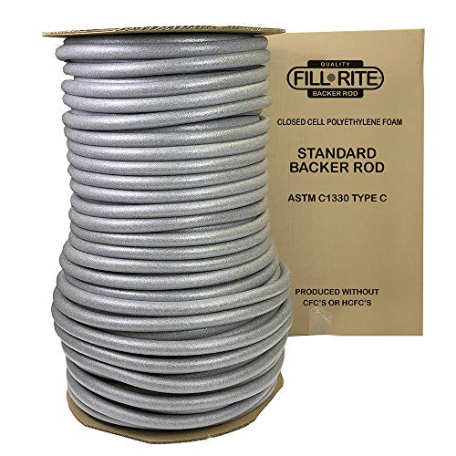 (FILL-RITE Pre-Caulking Filler Rope Backer Rod Roll Bulk 600 Feet x 1 Inch Grey filler rope)