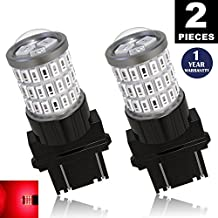 LUYED 2 x Super Bright 9-30v 3156 3157 3057 4157 LED Bulbs Used for Brake Lights,Tail Lights,Red
