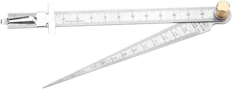 1-15mm Stainless steel taper gauge feeler gap hole double side measuring tool MW