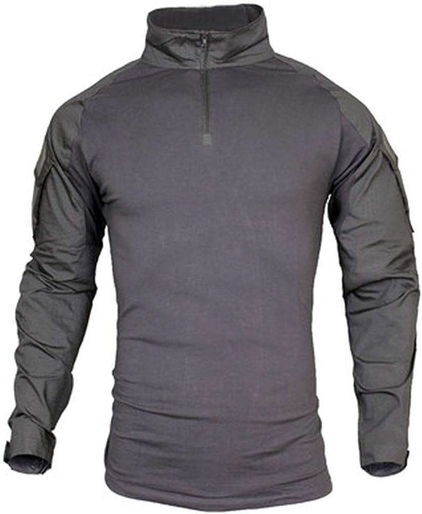 wujieKD Big Size S-5XL Men Military Shirts Combat Uniform Long Sleeve Tactical Shirts Camouflage Breathable Shirt