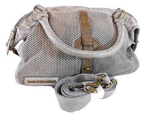 Taschendieb Schultertasch, Antikleder light-grey, TD 0219