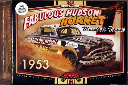Hornet Kit (#1206 Moebius Model King Marshall Teague #1 Fabulous Hudson Hornet 1/25 Scale Plastic Model Kit,Needs Assembly)