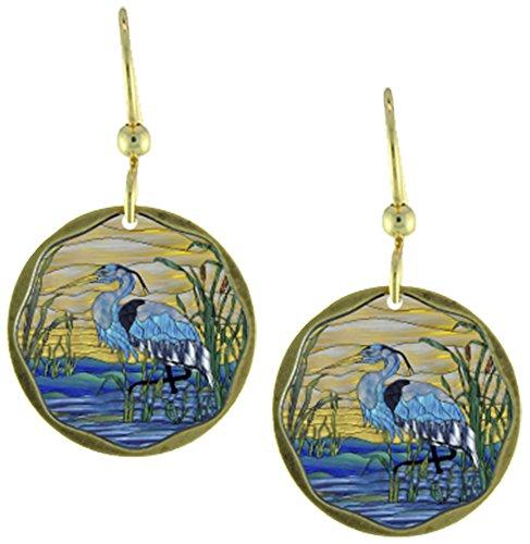 Earth Dreams-Blue Heron Earrings