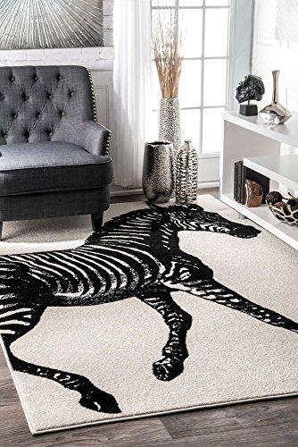 (nuLOOM BDTP03A Thomas Paul Zebra Rug, 5' x 8', Black & White)