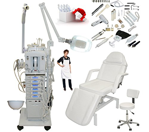 17 in 1 Elite Series Multifunction Diamond Microdermabrasion Facial Machine & Adjustable Hydraulic Bed Table Chair Salon Spa Beauty Equipment by LCL Beauty