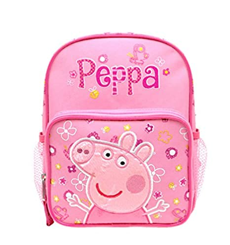 "Mini mochila – Peppa Pig – Rosa Flores 10 ""bolso de escuela pi35501"