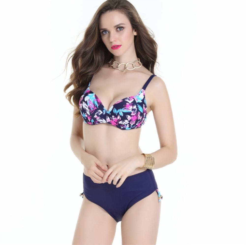 pengweiGroße Größe Farbe Bikini-Badeanzug weibliche Stahlstütze sammeln